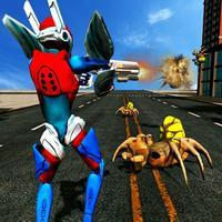 Super Hero Robot Battle Vs Evil Spider Robotics