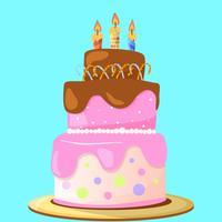 Happy Birthday Cake Stickers