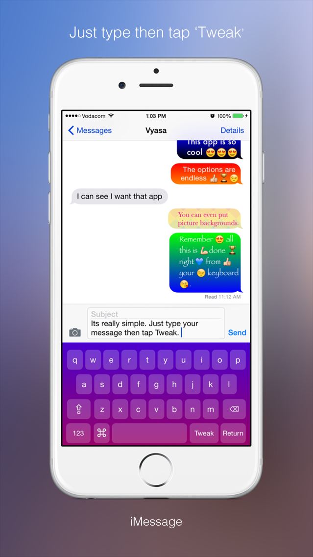 Text Tweaker Keyboard Free - Create Cool Color Message