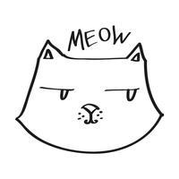 Cute Hand Drawn Cat Emoji Sticker #1