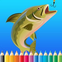 Fish Coloring Book For Kids: Drawing & Coloring page games free for learning skill