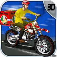 Pizza Delivery Bike Rider