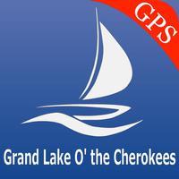 Grand lake o the Cherokees Map