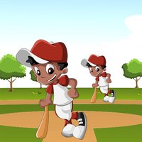Action Baseball: Sort By Size Game for Children to Learn and Play