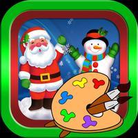 Santa claus and christmas photos coloring book
