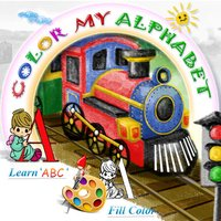 Color My Alphabet - Print Coloring Worksheets - Free