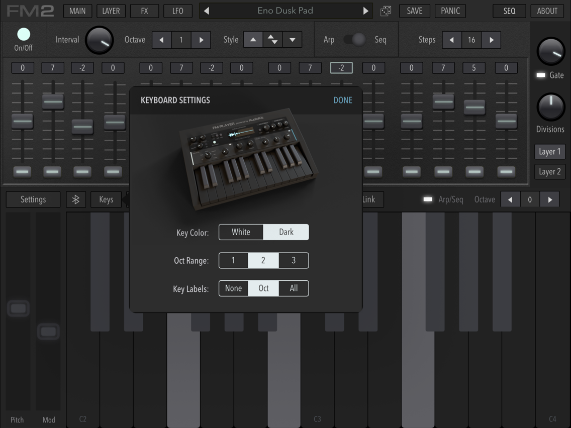 AudioKit FM Player DX Synth/EP App for iPhone - Free Download