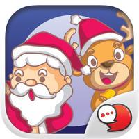 Happy Santa Stickers Emoji Keyboard By ChatStick