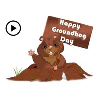 Animated Groundhog Day Sticker
