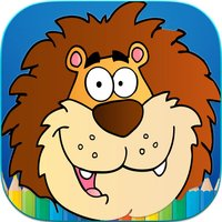 Jungle Animals Coloring Book - Finger Paint Book