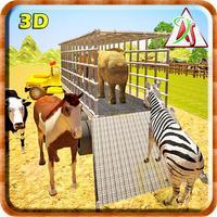 Zoo Transporter Fun 2016 – Jungle animals Vs Farm Animal Mayhem