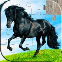 Horse Puzzles - Relaxing photo picture jigsaw puzzles for kids and adults