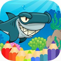 Shark & SeaAnimal Coloring Book Games
