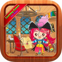 Cute Pirates Jigsaw Puzzles Educational Kids Games