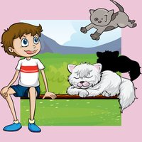 A Kid-s Game-s: Baby Cat-s, Kitty App For Small Child-ren Colour-ing Book-s & Puzzle with Animals