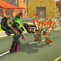Monster Transformer Robot War