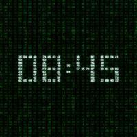 Hacker Clock - Green Matrix