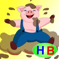 A dirty pig (story and games for kids)