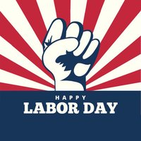 Happy Labor Day Badge Stickers by Kappboom