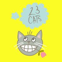 23 Cute Cats Sticker Pack