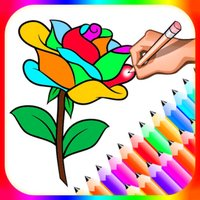 Flower Colour Drawing Book