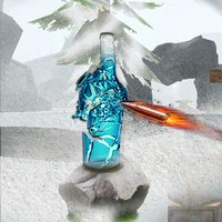 Snow Bottle Shooting