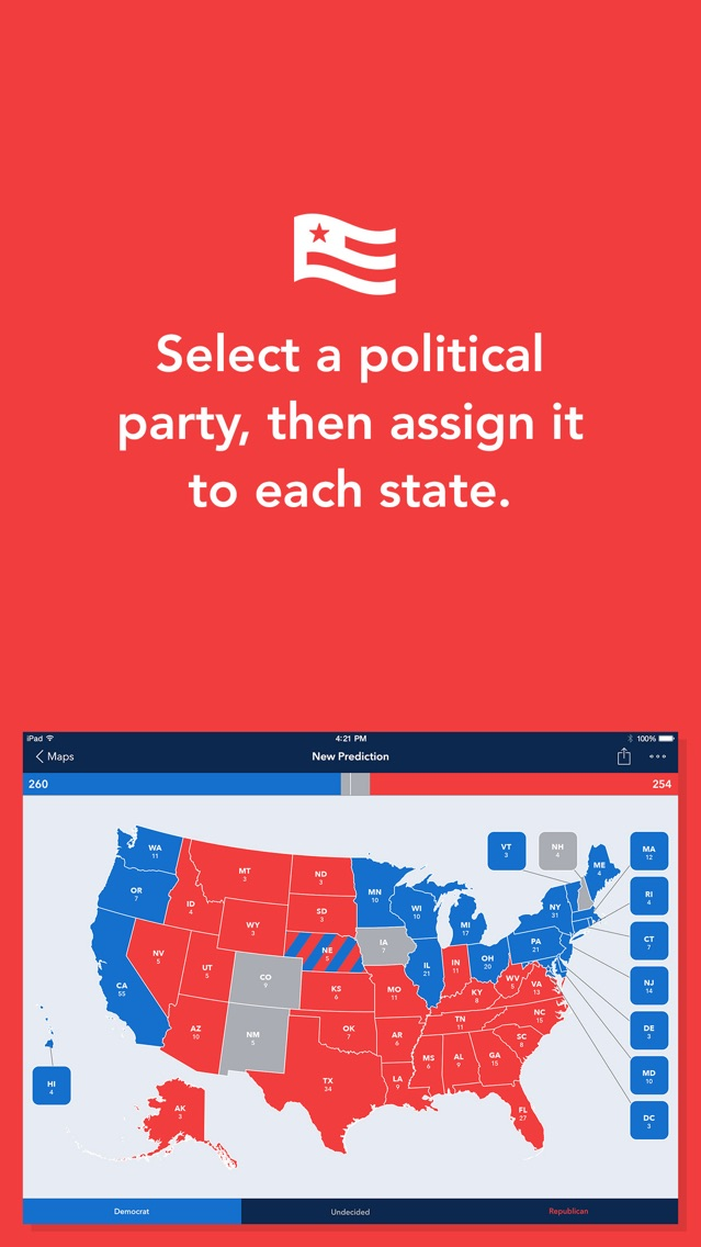 Electoral Map Maker App for iPhone - Free Download Electoral ... on free maps to print, free european maps, free maps and directions, free michigan state, free maps to stars homes, free maps software, free maps online, free printable 50 states map, free maps pdf, free earth map, free gps usa map, free template of united states, free arcgis maps, free daily calendar template, free michigan county maps, free maps for websites, free mind map com, free map pics, free maps of south florida, free map apps for kindle,