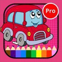 Vehicles coloring pages for kindergarten activitie