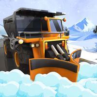 Real Heavy Snow Plow Excavator