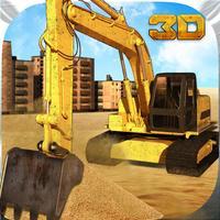 Sand Excavator Crane & Dumper Truck Simulator Game