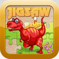 Dinosaur Games for kids Free ! - Cute Dino Train Jigsaw Puzzles for Preschool and Toddlers