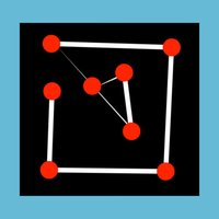 dot games -Magic Lines Blackboard puzzle