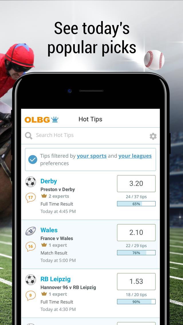 Olbg sports betting tips app blockchain sport betting