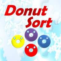 Donuts sort pick color not difficulty in game
