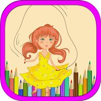 Kids Playing Different Games Coloring Books