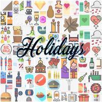 USA Holiday Stickers