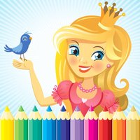 Princess & Fairy Coloring Book - All In 1 Drawing, Paint And Color Games HD For Good Kid