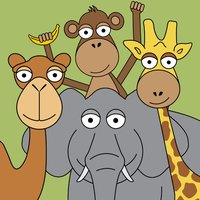 Toddler Puzzle Zoo: Animal game sticker book