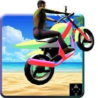 Blocky Super Moto Bike Rider