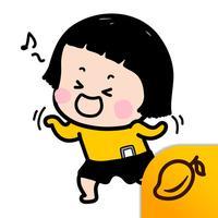 Mobile Girl, MiM Lite - Mango Sticker