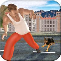 Police Dog Chase Prisoner Escape -  Real Hard Time Dog Fighting Against City Crime of Robbers & Criminals