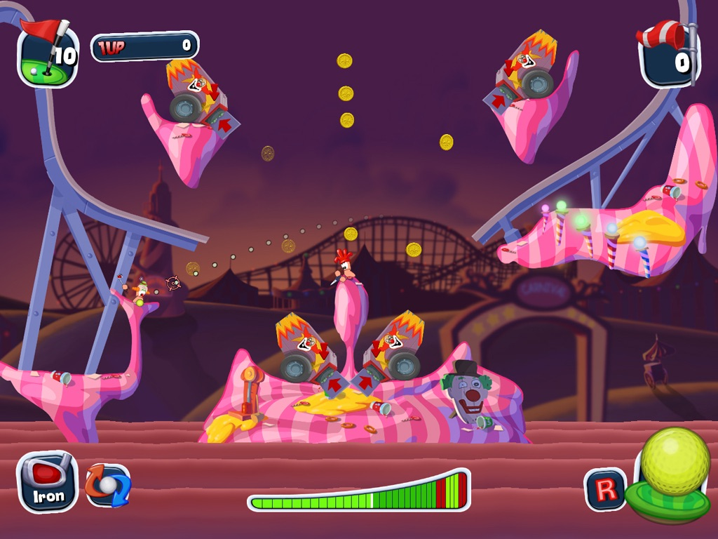 Worms Crazy Golf HD App for iPhone - Free Download Worms Crazy Golf
