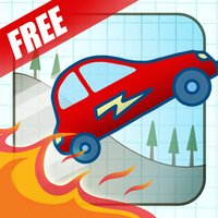 Doodle Fun Car Racing Free Game - Race The Fire Or Die!