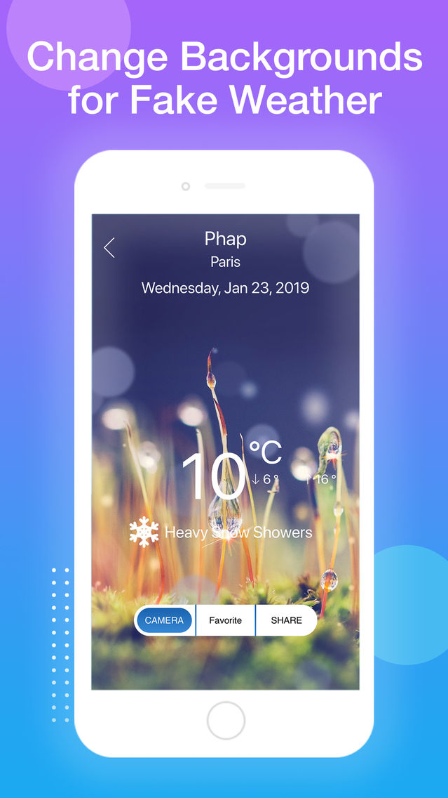 Create Fake Weather App for iPhone - Free Download Create Fake