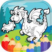 Dragon Dinosaur Coloring Book HD
