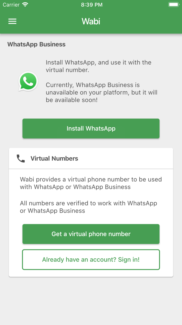 Wabi - Number for WhatsApp App for iPhone - Free Download