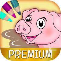 Color Farm Animals Coloring book - Premium