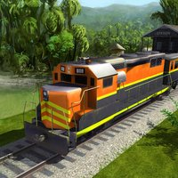 Jungle Train driving : Passenger transport Game