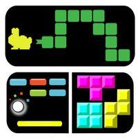 Mini Fun Games Bundle - Bricks Stack on Snake