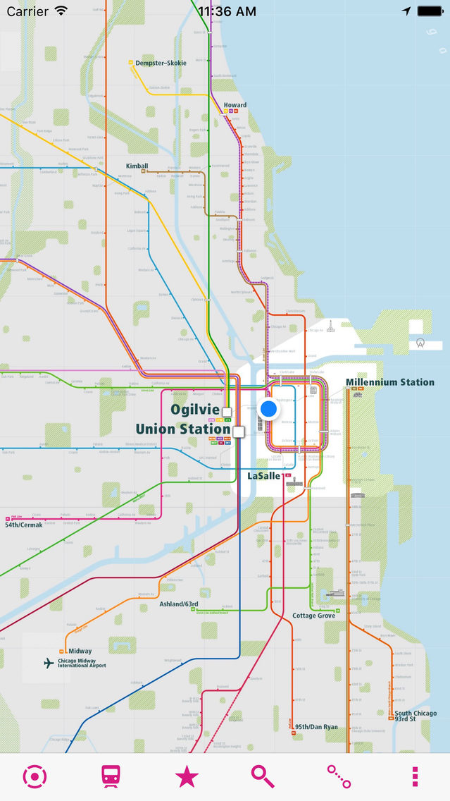 Chicago Rail Map on